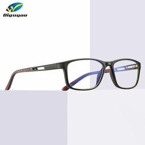 Image 1 - DIGUYAO kadınlar retro TR kare yüksek kaliteli erkek bilgisayar TV oyun anti mavi ışık gözlük engelleme optik gözlük aksesuarları