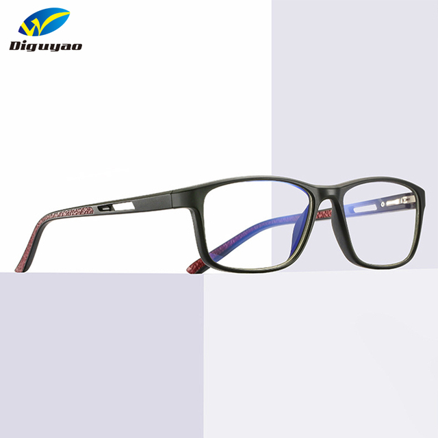 Diguyao 女性レトロ tr 正方形高品質男性コンピュータテレビゲーム抗青色光ガラスは、ブロッキング光眼鏡アクセサリー