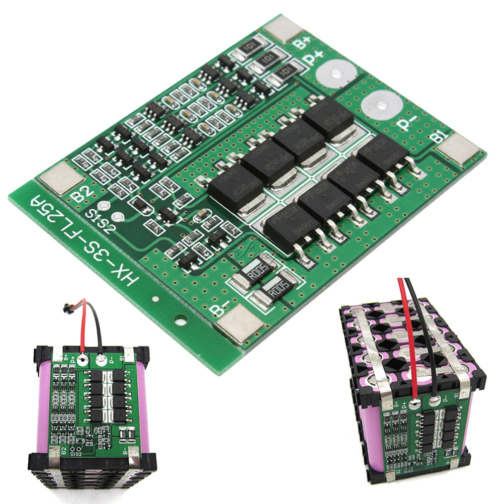 3S 25A Lithium Battery Protection Board With Balance Enhance Version 18650 Lithium Battery Charger PCB BMS Protection Board