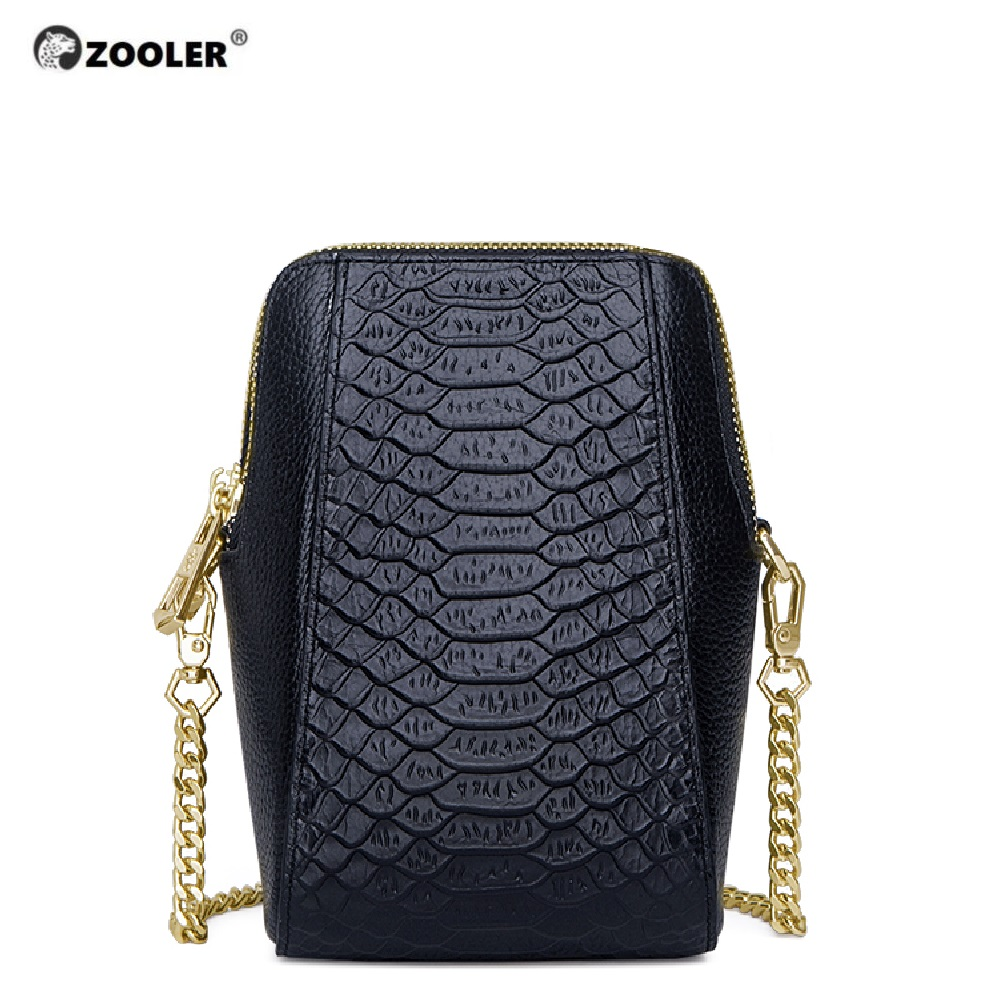 ZOOLER Leather Mobile Bags Messenger Shoulder Bag 2019 Fashion Genuine Leather Bag Small Cross Body Luxury Bolsa Feminina #CW203