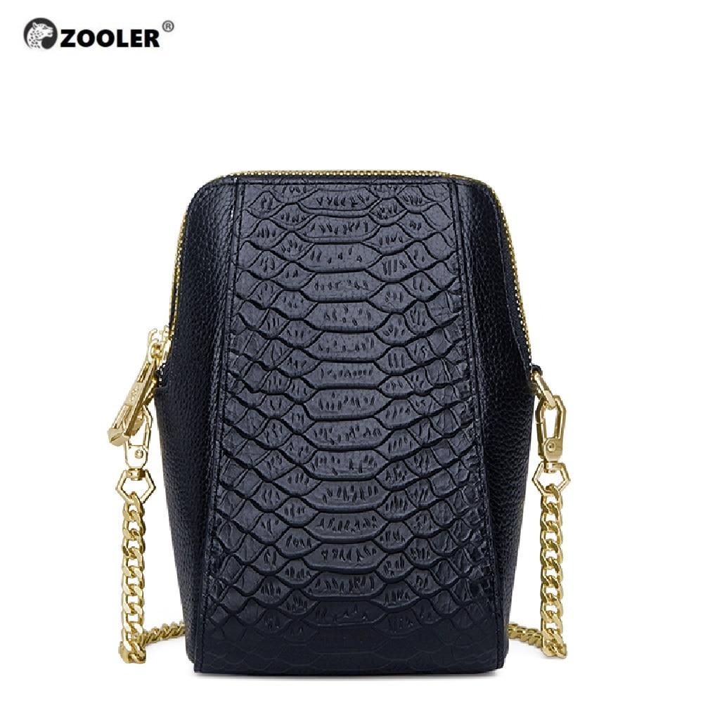 ZOOLER Leather Mobile Bags Messenger Shoulder Bag 2019 Fashion Genuine Leather Bag Small Cross Body Luxury Bolsa Feminina #CW203