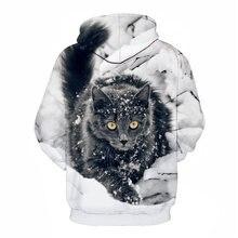 Толстовка Мужская/женская с 3d принтом кота повседневный модный