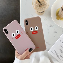 INS Korea Simple cute sausage duck phone case For iphone Xs MAX XR X 6 6s 7 8 plus Couple painting soft TPU back Cover Fundas