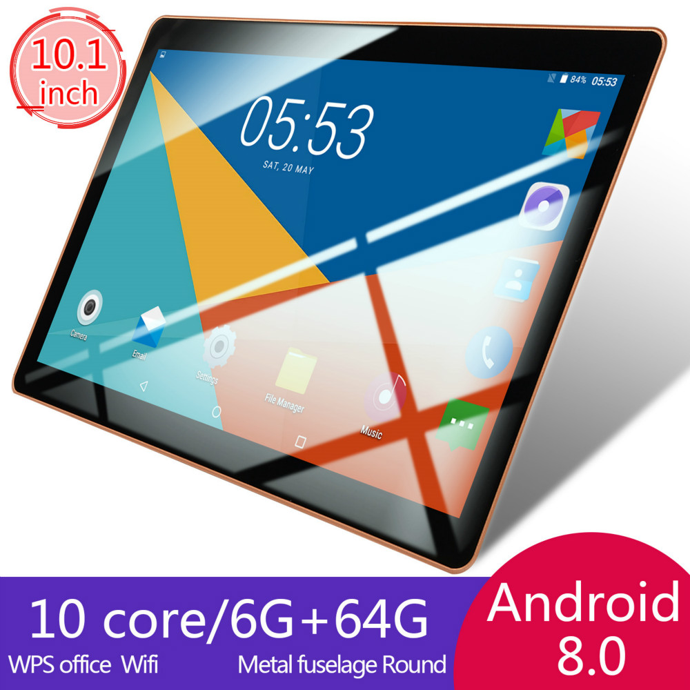 Android 8.0 Tablet Double Card Dual Standby  6G+128GB Large Memory Smart Tablet  4G Phone Tablet PC