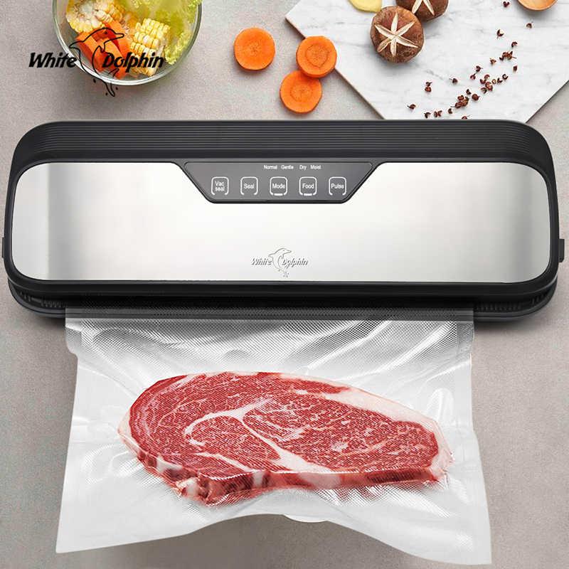 キッチン真空食品シーラーと 10 個食品シールバッグ自動電気食品真空シーラー包装機 220 v 110 v