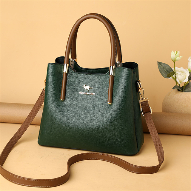 Leather Casual Crossbody Bags for Women 2020 Ladies Luxury Designer Tote Handbag Top-Handle High Quality Shoulder Bag Sac A Main 3