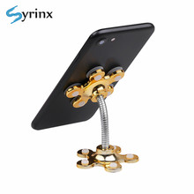 Syrinx Universal Car Phone Holder Double-Sided Suction Cup Desk Stand Desktop 360 Degree Rotatable Car Cellphone Support Holder(China)