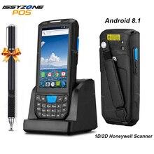 IssyzonePOS Terminal de punto de venta, escáner lector de código de barras, PDA portátil, resistente, con Android 8.1, WiFi 4G, Bluetooth y GPS, 1D 2D