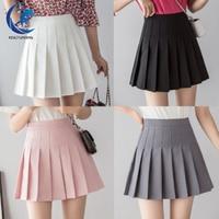 Girls A Lattice Short Dress High Waist Pleated Tennis Skirt