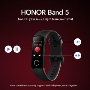 Image 5 - מקורי Huawei הכבוד להקת 5 4/4e הגלובלי גרסה דם חמצן חכם להקת קצב לב צג צפה כושר עמיד למים צמיד