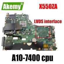 X550ZA Scheda Madre A10-7400 cpu Per For For For Asus VM590Z K555Z X550Z scheda madre Del Computer Portatile X550ZA Mainboard X550ZE Scheda Madre di prova di 100% OK