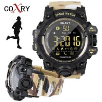 COXRY-reloj inteligente militar de camuflaje para hombre, pulsera electrónica para correr, cronómetro