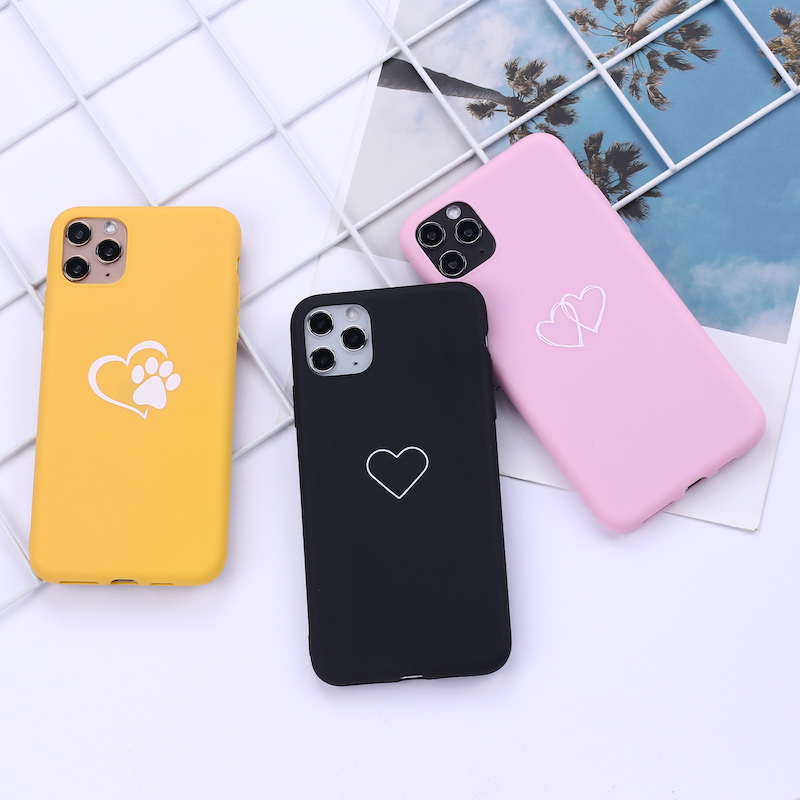 Heart Lover Pink Black Girl Phone Cover For Iphone 11 Pro Max X Xs