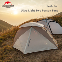 Naturehike Nebula Ultralight Camping Tent 1 2 Persons 20D Nylon Snow proof Top Tent Waterproof Outdoor X structure Camping Tent