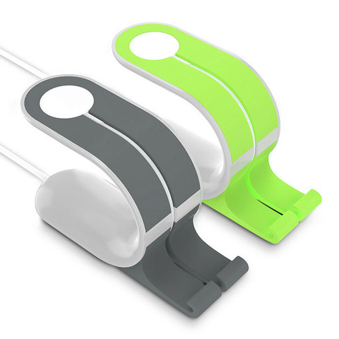 Universal ABS For Phone 2 IN 1 Mini Lightweight Useful Durable Holder For Apple Watch Charging Holder Lahore