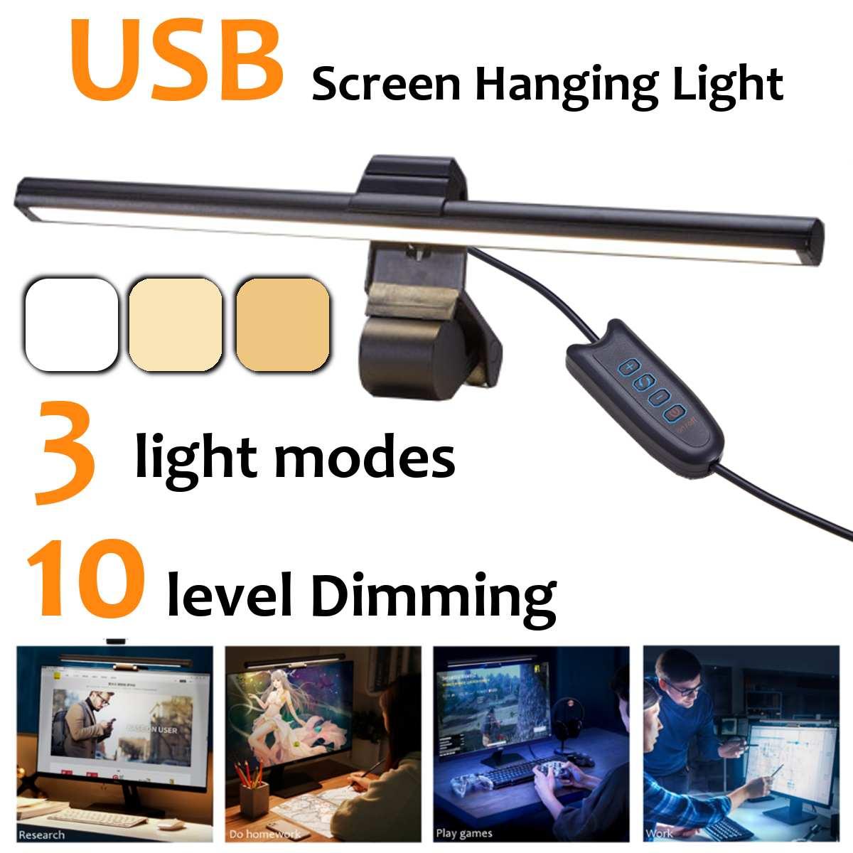 Usb screenbar conduziu a lâmpada de mesa portátil tela barra luz pendurado lâmpada mesa proteção para os olhos escritório estudo luz leitura para monitor lcd