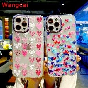 Image 2 - Clear Heart Case For Xiaomi Mi 11 10T Pro Poco M3 Redmi 9T 9A 9C Note 10 4G 9S 9 Pro Max  8 7 Case Love Phone Soft TPU Cover