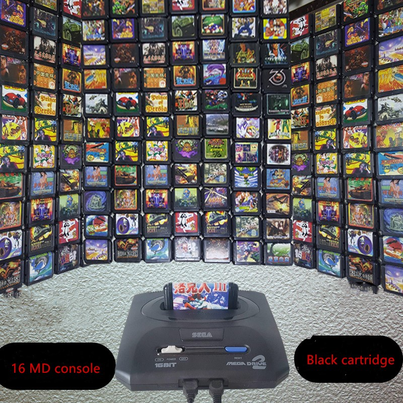 Classic 16 Bit MD  Single Game Series For Comics  Bunny Contra Black Game Cartridge For Sega Game Console