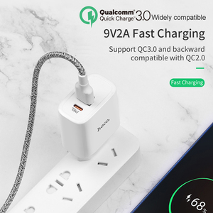 Image 4 - HOCO 18W USB PD Quick Charge Wall Charger Adapter QC3.0/2.0 Fast Charger with Type C to Lightning Fast charging Cable