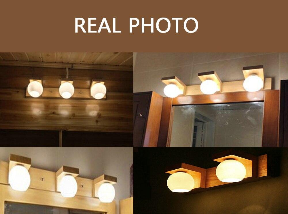 Luminária de parede moderna para espelho de