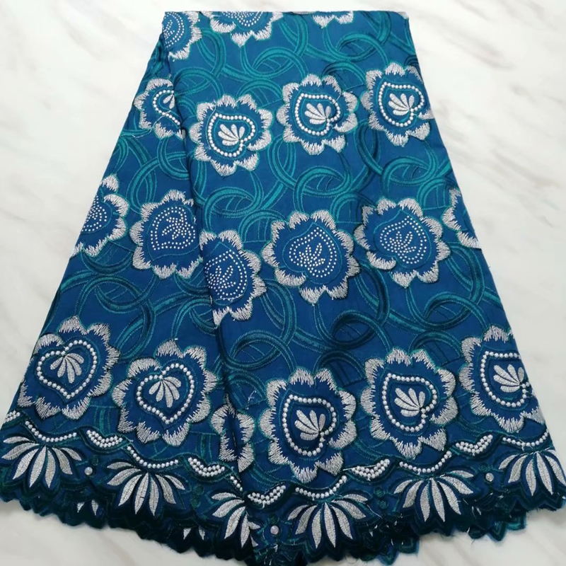 2020 Latest French Lace Fabric With Stones Flower Embroidery High Quality African Nigerian George Lace Fabric For Sewing Dress