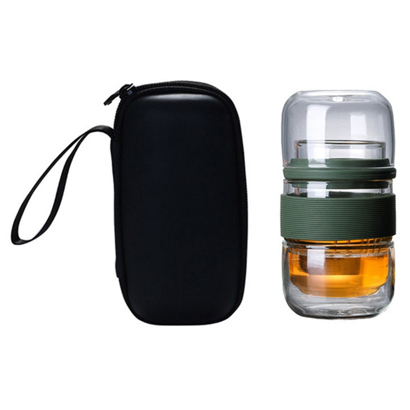 420Ml Portable Tea Infuser Bottle Water Bottle Chinese Tea Strainers Simple Teapot Heat-Resistant Black Tea Teapot Office Kung F