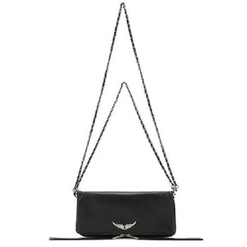 Cowhide Crossbody Bag And Handbag Women's Shoulder Bag Personality Wings Decorated Chain Messenger Bag Woman Bag Bolsos Mujer 1