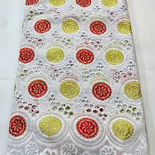 Fabrics Voile Embroidery Party-Dress African Cotton with Stock Lace Popular Dubai-Style