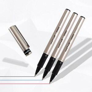 Image 5 - 12PCS Mitsubishi Uni Ball Fine Deluxe UB 177 0.7mm Gen Ink Pen Rollerball Pen waterproof Black/Blue/Red Ink Color