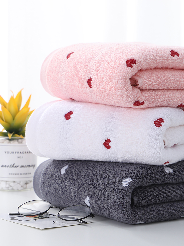 Peach Heart Towel Cotton Adult Soft Absorbent Quick-drying Badhanddoek Large Towel Baby Cute Towels Bathroom Towel FF60T10