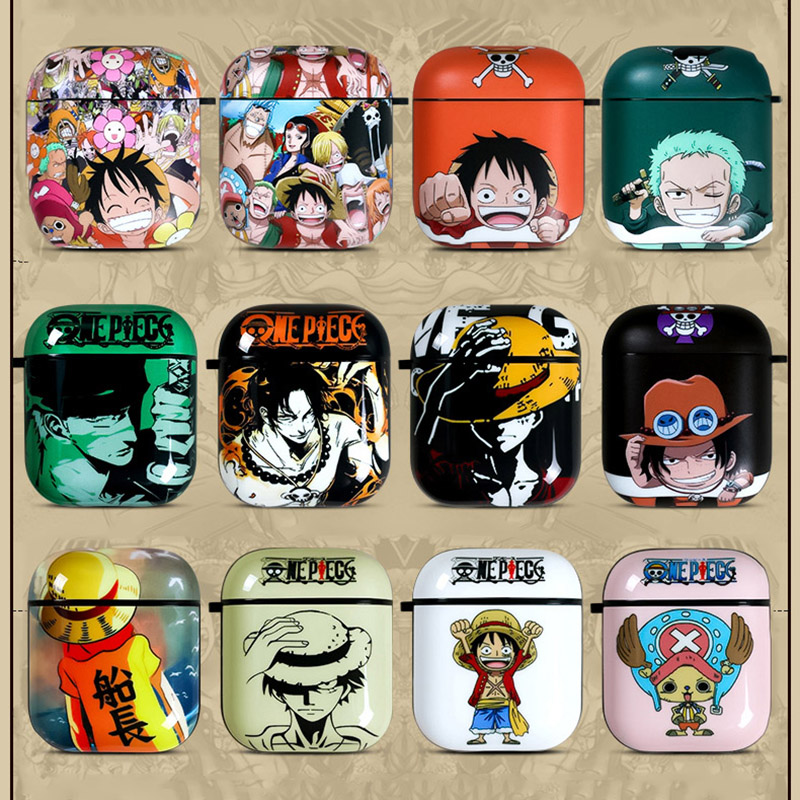 Cute Cartoon One Piece <font><b>Silicone</b></font> Bluetooth Earphone <font><b>Case</b></font> For <font><b>Apple</b></font> <font><b>AirPods</b></font> Ultra-thin Protection Cover For Charging Box 1 2 Funda image