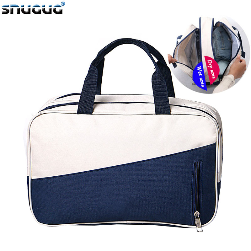 SNUGUG Dry Wet Separation Waterproof Gym Bag Women Fitness Yoga Mat Men Training Handbag Swimming Travel Crossbody Bag For Sport