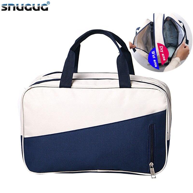 SNUGUG Dry Wet Separation Waterproof Gym Bag Women Fitness Yoga Mat Men Training Handbag Swimming Travel Crossbody Bag For Sport