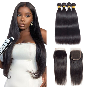 Royal Straight Bundles With Closure Brazilian Hair Weave Bundles With Closure Human Hair Bundles With Closure Hair Extension yyong straight hair bundles with closure brazilian hair weave 3 bundles remy human hair bundles with closure hair extension