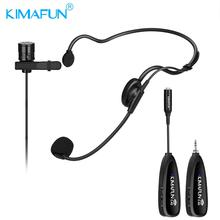 KIMAFUN Portable Wireless Headset Audio 2.4G Earphone Bluetooth Microphone Power Amplifier For Tourist Guide Meeting Teaching