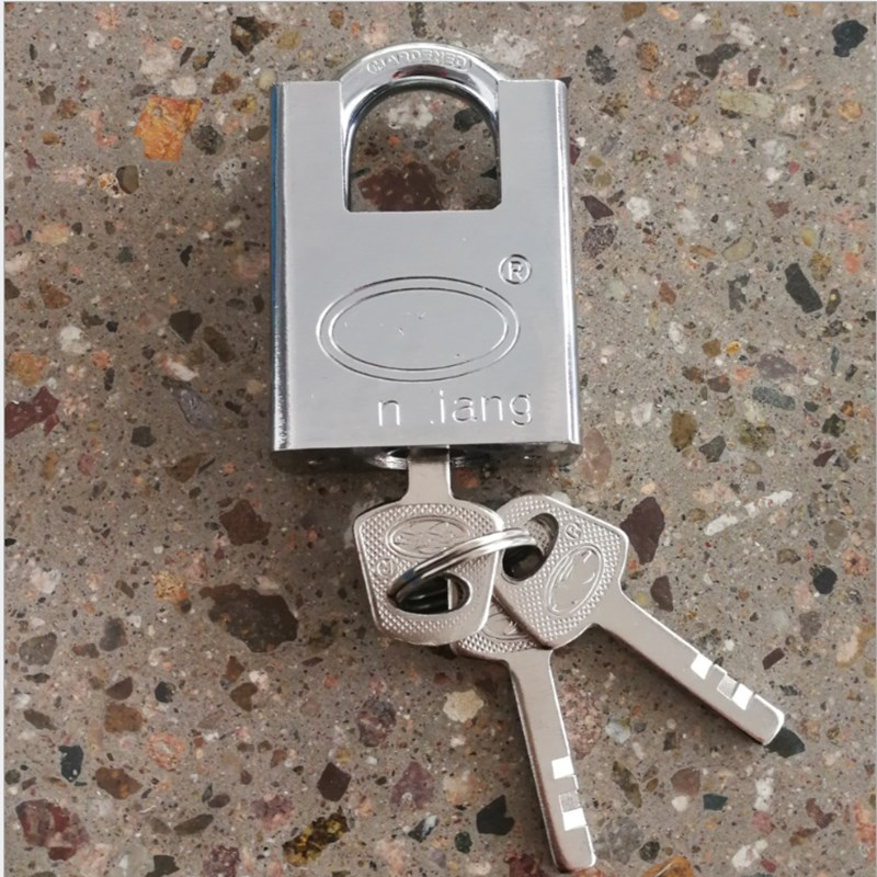 40mm Imitation Stainless Steel Four sided Leaf Beam Padlock Anti shear And Anti theft Padlock Head in Locksmith Supplies from Tools