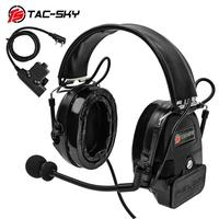 outdoor sports TAC-SKY COMTAC I silicone earmuffs outdoor hunting sports noise reduction pickups military tactical headphones BK+U94PTT (1)