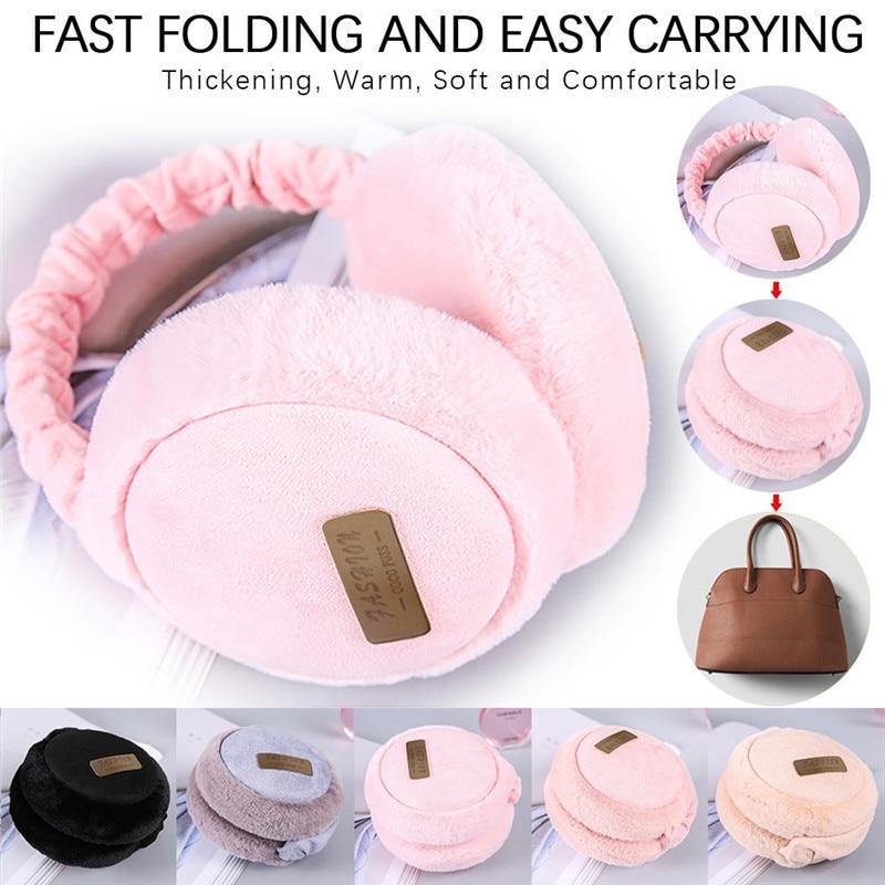 Ear Muffs Winter Accessories For Women Men Unisex Fashion Folding Earmuffs Winter Ear Warmer Soft Plush Ear Cover @C