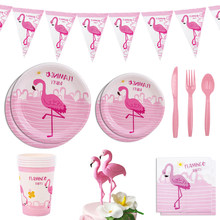 Pink Flamingo Party Decor Set Lets Flamingo Birthday Decor Festa Flamingo Ballon Caketopper Decor Hawaiian Flamingo Party