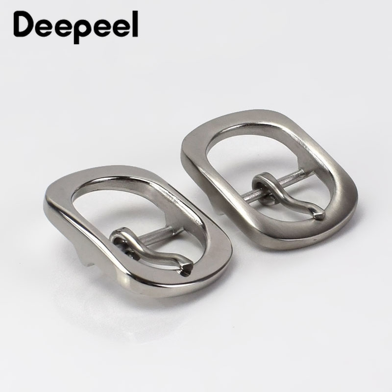 Deepeel 1PC Fashion Solid Stainless Steel Belt Buckles Metal Pin Buckles For Belt 29-30mm Mens Jeans Belt Head DIY Leather Craft