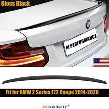 مجسم خلفي من MagicKit باللون الأسود اللامع من ABS لأداء BMW 2 Series F22 كوبيه 14-20
