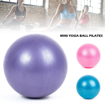 Mini Yoga Pilates Ball Explosion-proof Pvc Fitball for Stability Exercise Training Gym Anti Burst&slip Resistant Straw 25cm