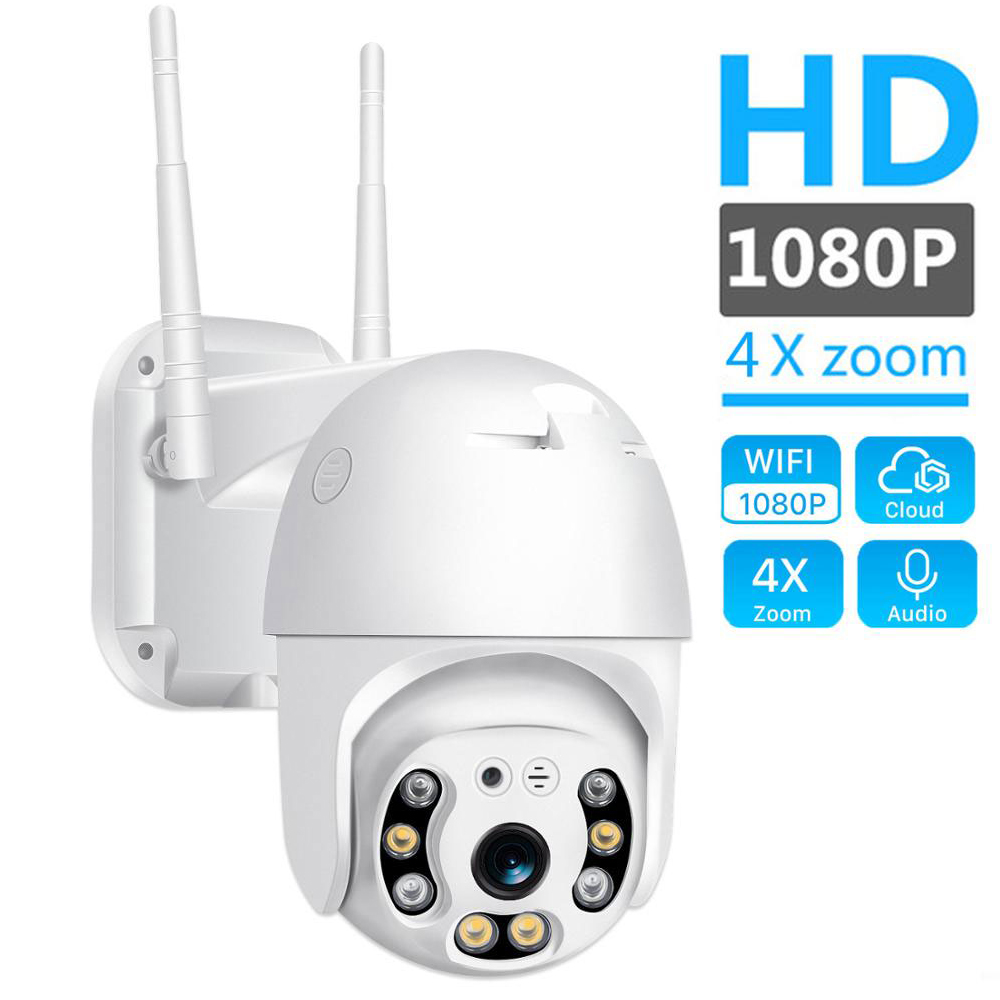 H.265 PTZ IP Camera 2MP WiFi Cloud Storage Motion Voice Alert Dual Antenna Dual IR Light Ai Security Surveillance Camera Ipcam