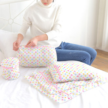 Dots Laundry Bag Clothes Washing Underwear Socks Protector Mesh Net Wash Zippered Bags for Machine