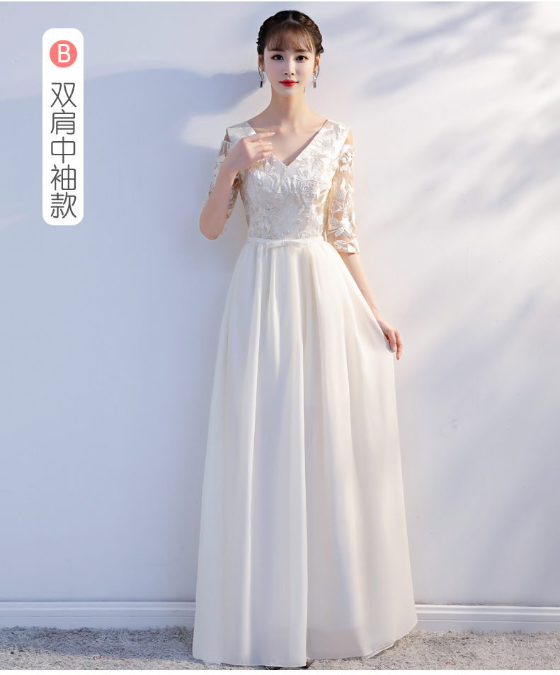 Chiffon   Dress   For Wedding Party for Woman Plus Size   Bridesmaid     Dress   Red Sister Vestido Azul Marino Long Prom   Dress   Champagne