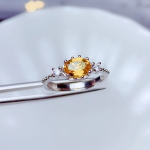 Image 3 - CoLife biżuteria 925 srebrny pierścień cytrynowy na odzież na co dzień 4mm * 6mm naturalny VVS klasy cytryn pierścień moda żółty kryształ srebrny pierścień