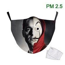 Washable Mask Fabric Hot-Face-Adult-Masks Printed La Casa-De-Papel-Series