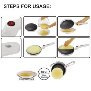 Image 4 - Electric Crepe Maker Pizza Pancake Machine Non Stick Griddle Baking Pan Cake Machine Kitchen Cooking Tools Sonifer