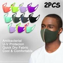 Máscara facial secagem rápida lavável reutilizável capa respirável 2 pces wasbaar boca tampões lavável mascaras personalizadas