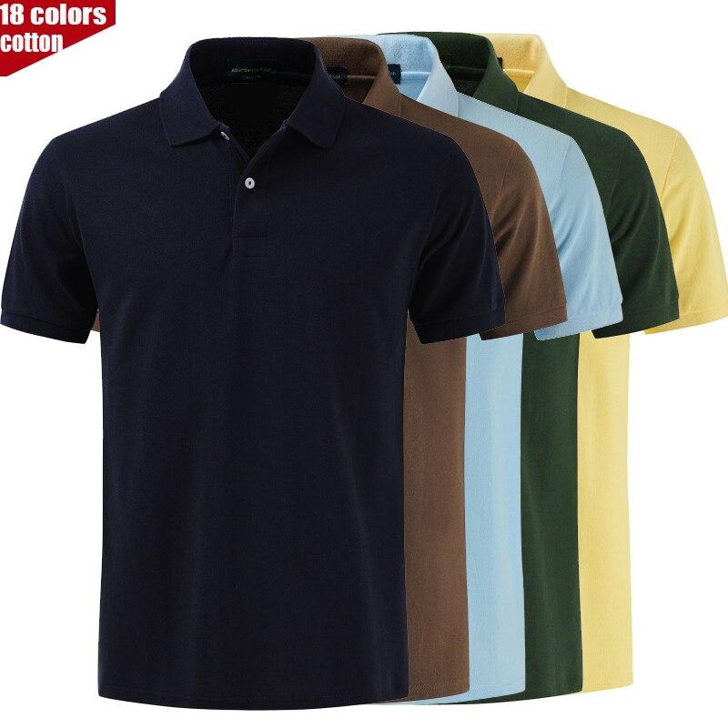TOP Quality 2019 New Fashion Slim Fit Short Sleeve T Shirt Casual Turn-Down Collar Men's Cotton T-Shirt Golf Polos Shirt XS-4XL